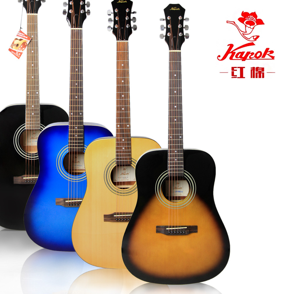 Cotton tree guitar 41 inch fingerstyle playing and singing folk guitar for beginners beginner he spruce wood guitar ld-68