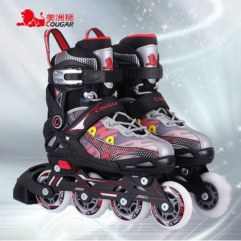 Cougars skates adjustable children's full suite inline skates roller skates adult men and women skate skates children skates roller shoes