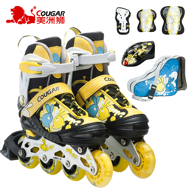 Cougars skates adjustable inline skates children skate skates for children full suits for men and women
