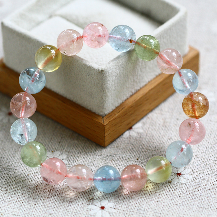Counter genuine natural stone bracelet glamorgan brazil morgan candy colored candy colored crystal stone bracelet
