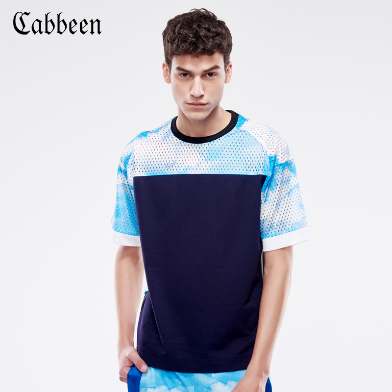 Counter new clabmin men hit color round neck raglan sleeve t-shirt casual men's fashion h/3162132174