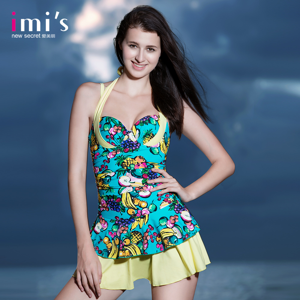 594051b2d98 Get Quotations · [Counter] new imi 's beautiful fruit printing printing sexy  ladies swimwear piece swimsuit