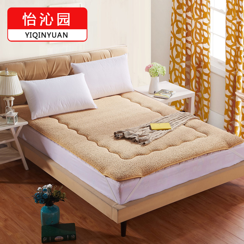 Courtyard patio thick warm sherpa tatami mattress bed mattress pad is student single double bed mattress pad