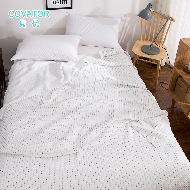 Covator gifted juan star honeycomb waffle cotton towel single or double linen blankets to increase cotton summer