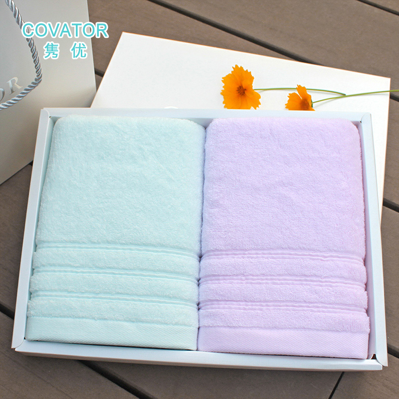 Covator new hollow yarn thick towel to increase cotton gift box wedding celebration favor gift 2 loaded