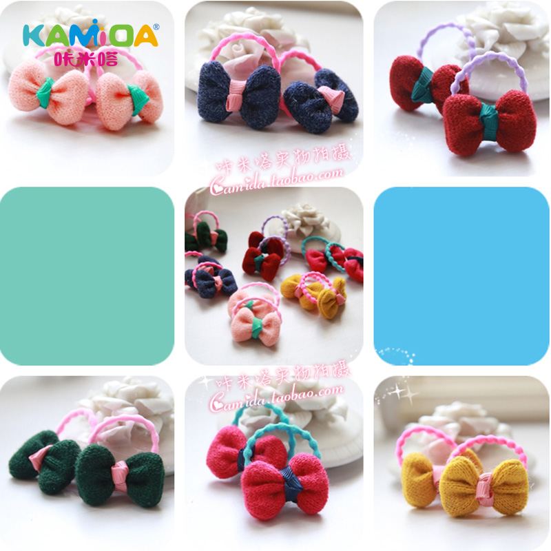 Cracking meters despair kamida princess bow hair ring hair cute hair accessories for children girl girls head ornaments rubber band