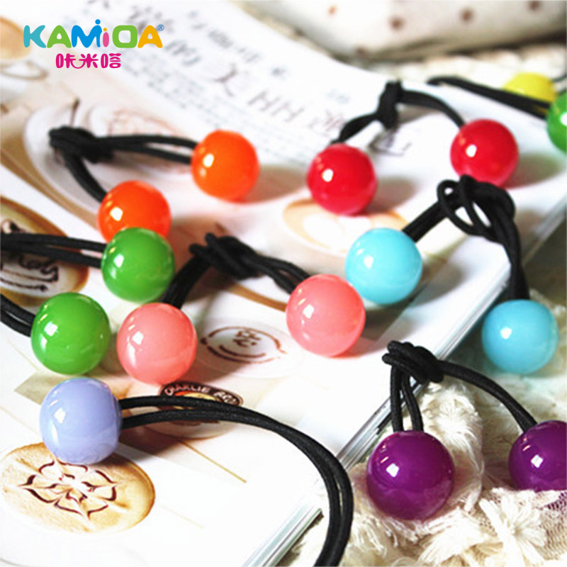 Cracking meters despair korean children candy colored rubber band hair rope hair ring tousheng headdress hair accessories with jewelry cute princess