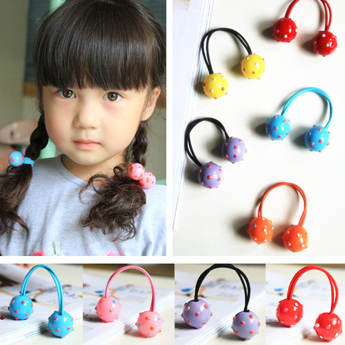 Cracking meters despair korean version of the new little girls hair accessories hair ball cute baby hair accessories hairpin hair ring hair rope single