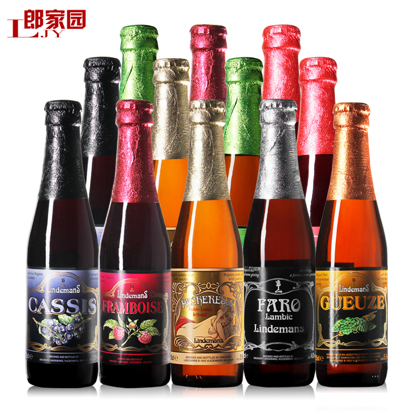 Craft beer imported from belgium lindemann lindemans mix 12 loaded 7 kinds of flavors shipping