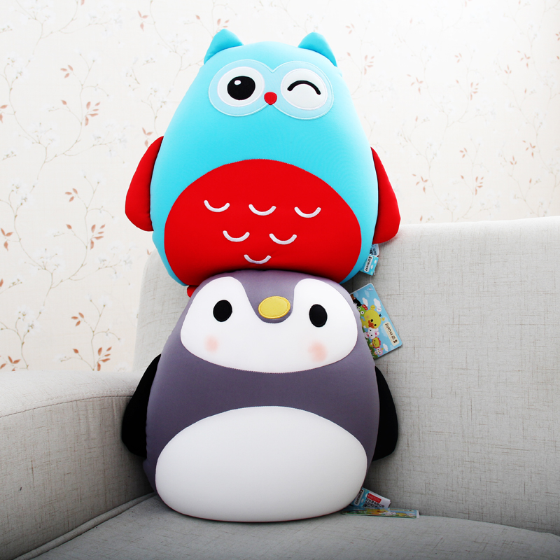 Creative cartoon pillow sleeping pillow plush toy nanometer particle foam animal alliance soft pillow cushions