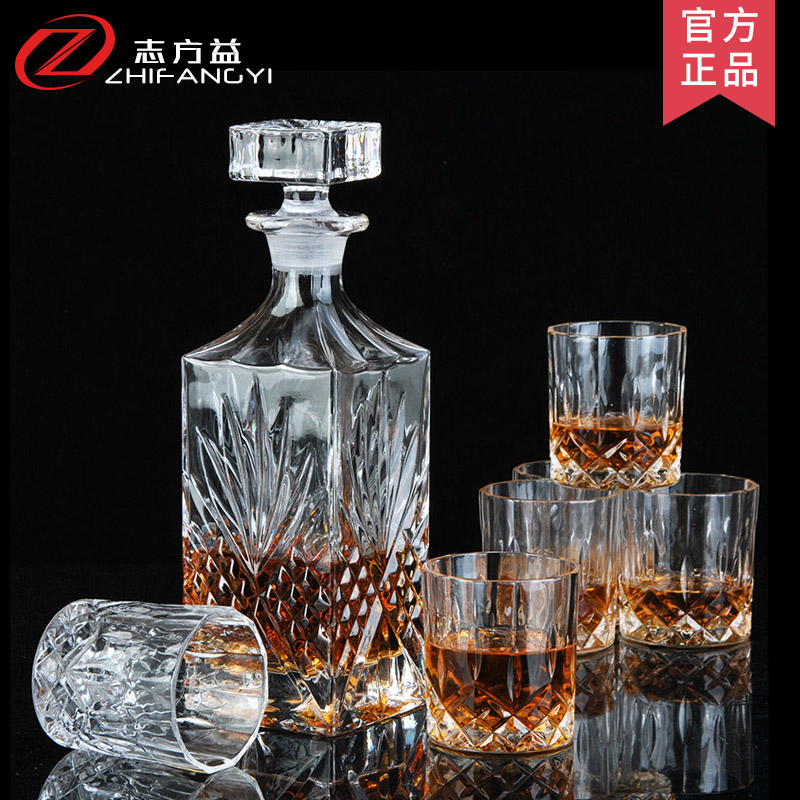 Creative crystal glass decanters wine glass wine bottle suit whiskey glass of red wine bottles jiuzun