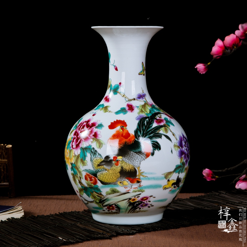Creative jingdezhen ceramic small vase home furnishing the living room minimalist modern home decorations personality patterns