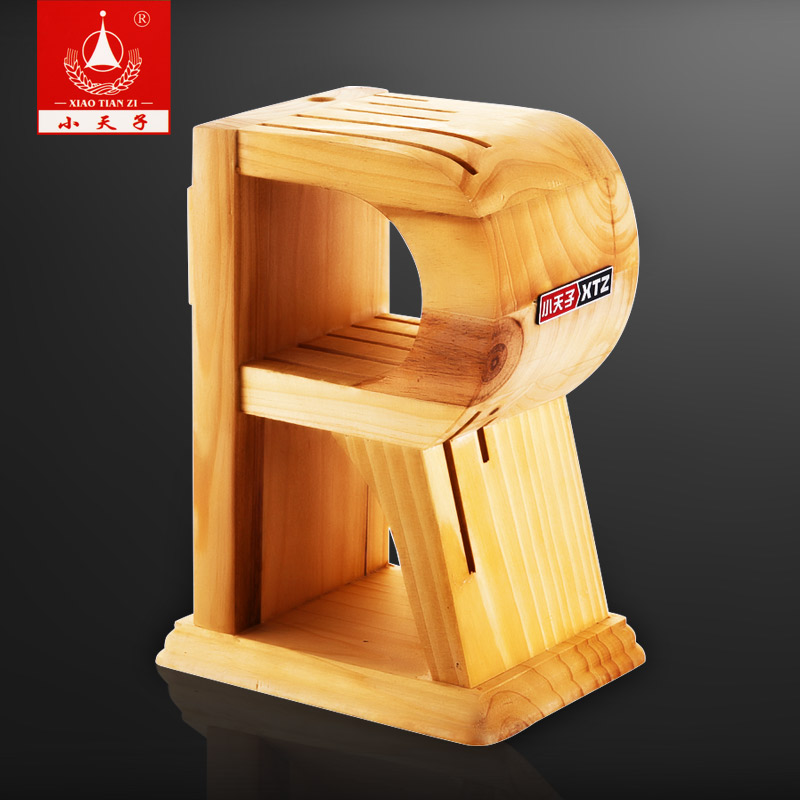 Creative kitchen supplies kitchen knife multifunction turret tool holder kitchen knife rack shelving wood knife block