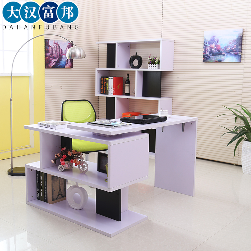 Creative minimalist modern desktop computer desk corner desk combination bookcase desk home office desk desk desk desk environmental protection