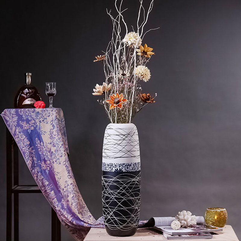 Creative modern minimalist dining room hotel clubs living room floor vase ornaments home decorative flower flower arrangement device