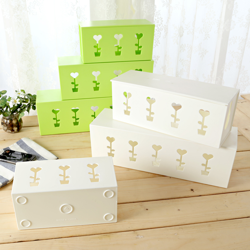 Creative oversized wire storage box socket storage box storage box wire finishing box power cord finishing box cable management box