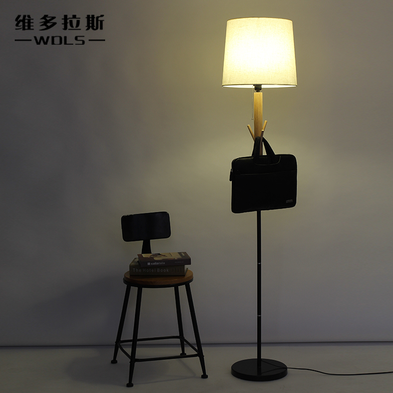 Creative personality living room bedroom bedside european lamps floor lamps creative american retro chinese cloth hanging clothes