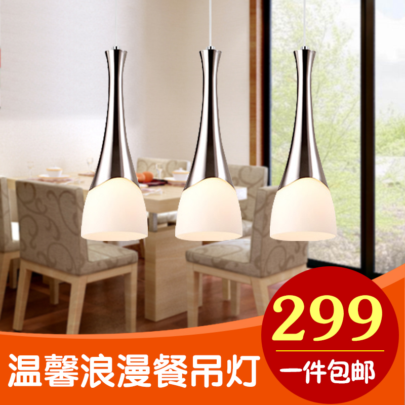 Creative personality restaurant lights led three pendant chandelier modern minimalist living room lamp glass staircase lighting fixtures bar