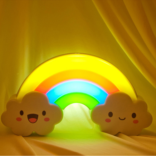 Get Quotations · Creative Rainbow Colorful Sound And Light Control Energy  Saving Led Sensor Lights Bedroom Bedside Wall Lamp