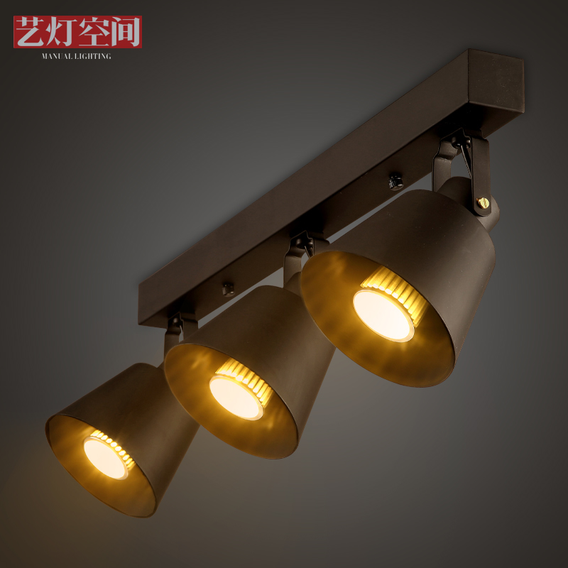 Creative retro clothing store spotlights led lamps living room restaurant bar sets aisle american track lighting industry