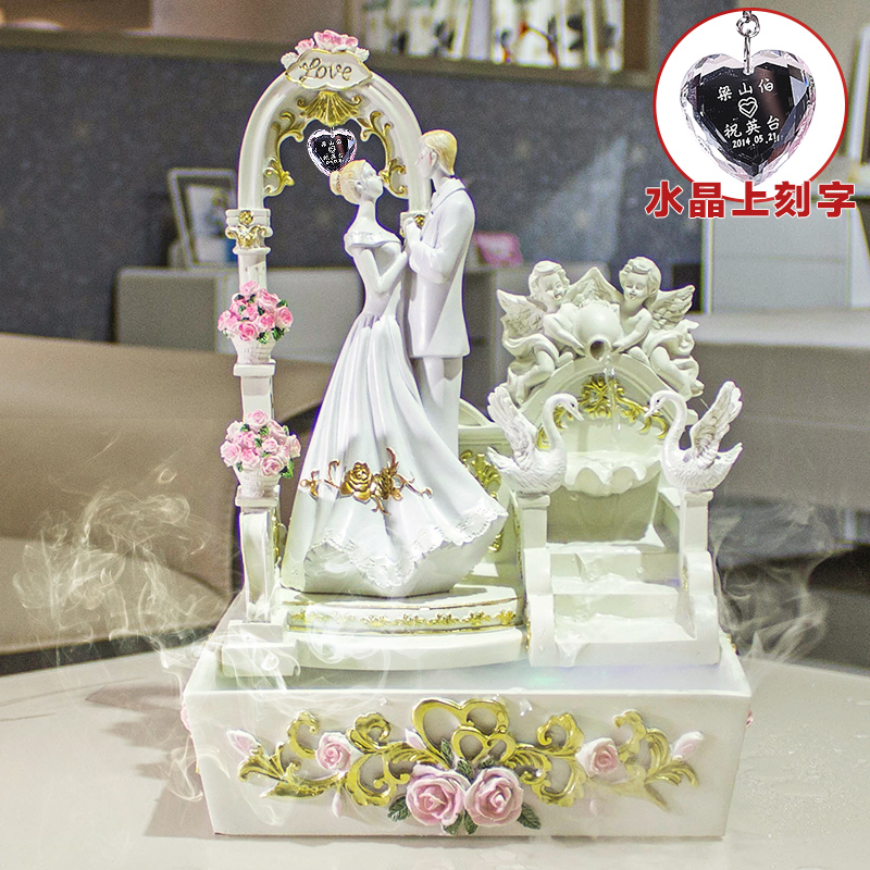 Creative upscale practical gifts girlfriends wedding gift ideas living room water fountain ornament ornaments wedding room gift