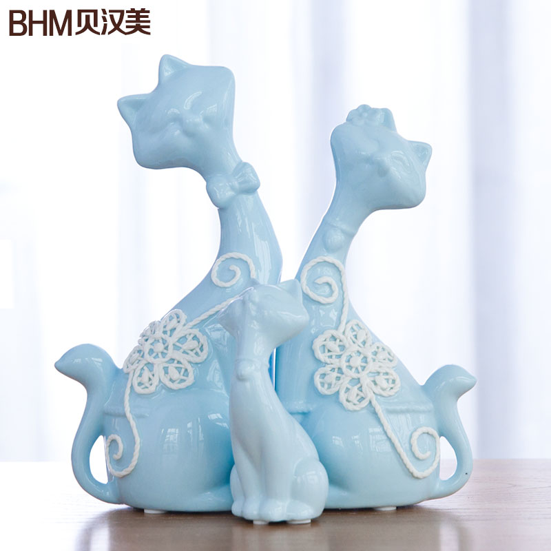 Creative wedding gifts home decorations living room tv cabinet ornaments cat ornaments wedding gift wedding