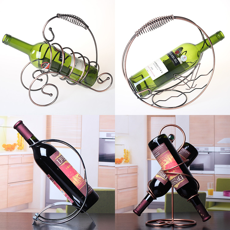 Creative wine rack wine rack wine cup holder cup holder cup holders european wine rack wine rack fashion bottle rack high foot rack upside down cup holder