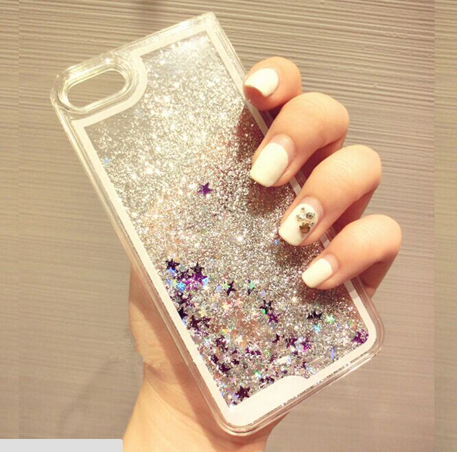 Creators 5se generation liquid apple iphone5s transparent stars quicksand phone shell shell protective sleeve korea