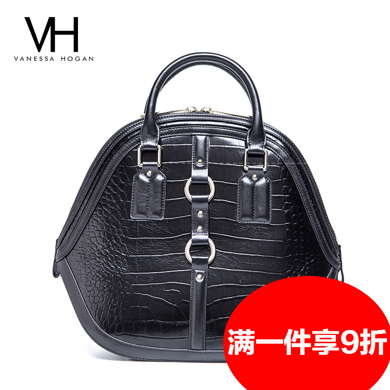 Crocodile pattern leather handbags spring and summer VH2016 tóth tóth glossy handbag first layer of leather women with disabilities bag
