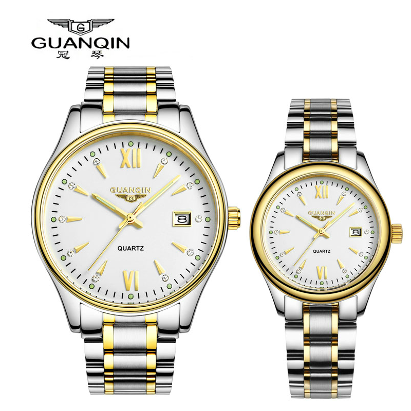 Crown piano watches diamond ladies watch lovers watch female form thin quartz watch couple of tables couple watches on table