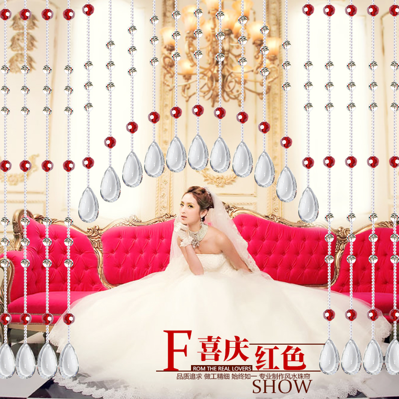 Crystal bead curtain finished off the entrance curtain hanging curtain hanging decoration feng shui new crystal bead curtain curtain son