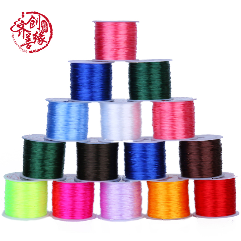 Crystal line cord elastic bungee cord imported sky systems diy bracelets bracelet beads wire line cord elastic rope