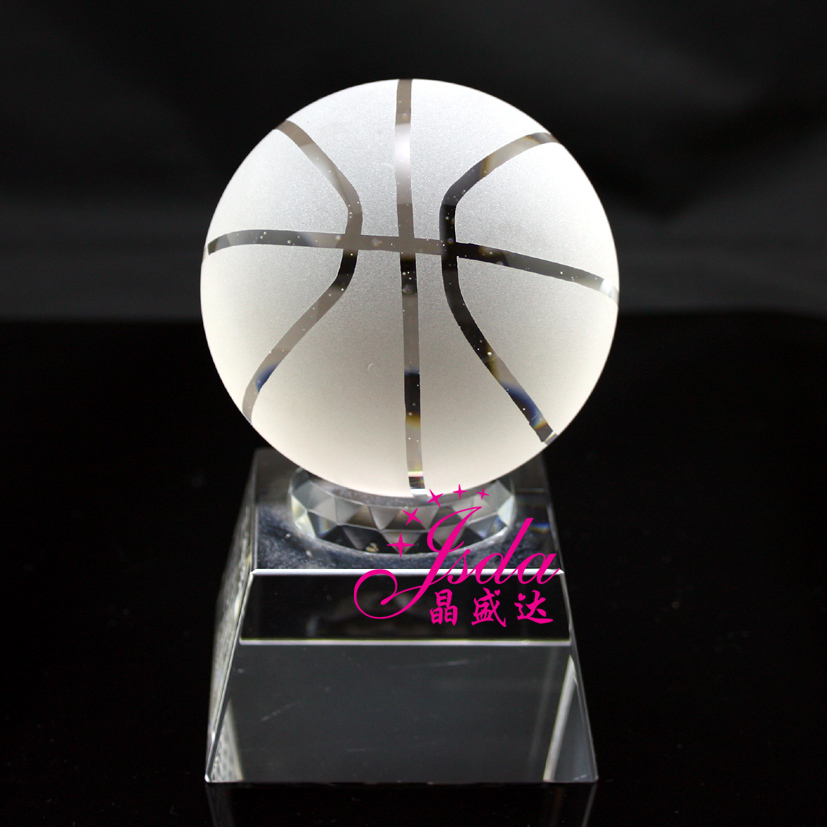 Crystal shengda crystal trophy medal spot mv p basketball crystal trophy trophy tournament trophy custom souvenir