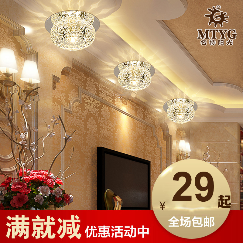 Crystal spotlight led downlight ceiling lights backdrop aisle lights porch light corridor lights foyer lighting fixtures