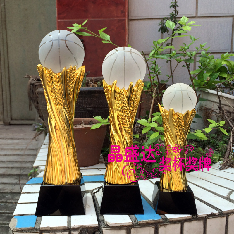 Crystal trophy custom metal trophy basketball football golf volleyball ball taiwan mvp trophy custom