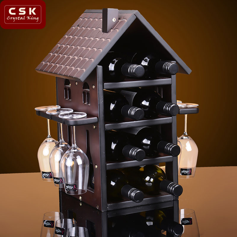 Csk levin adomesticnature' wooden wine rack wine rack wine rack creative european home furnishings decorative wine rack wine cup holder shelf