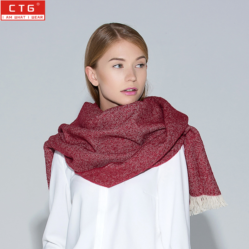 Ctg new female autumn and winter scarves korean version of the influx of elegant fashion wild widening thick mao bianzhi british european and american style