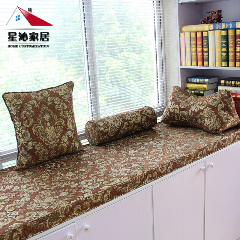 Get Quotations Custom Brown Chenille Sponge Bay Window Sill Mat Tatami Mats Cushion Thick Mahogany Sofa