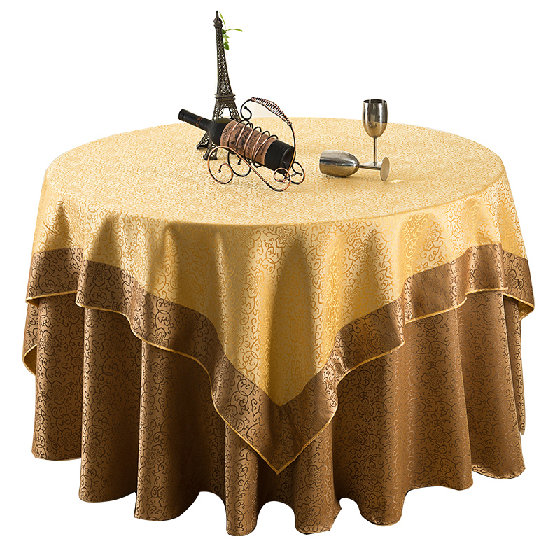 Custom hotel restaurant hotel restaurant round square euclidian double jacquard tablecloth tablecloth tablecloth home