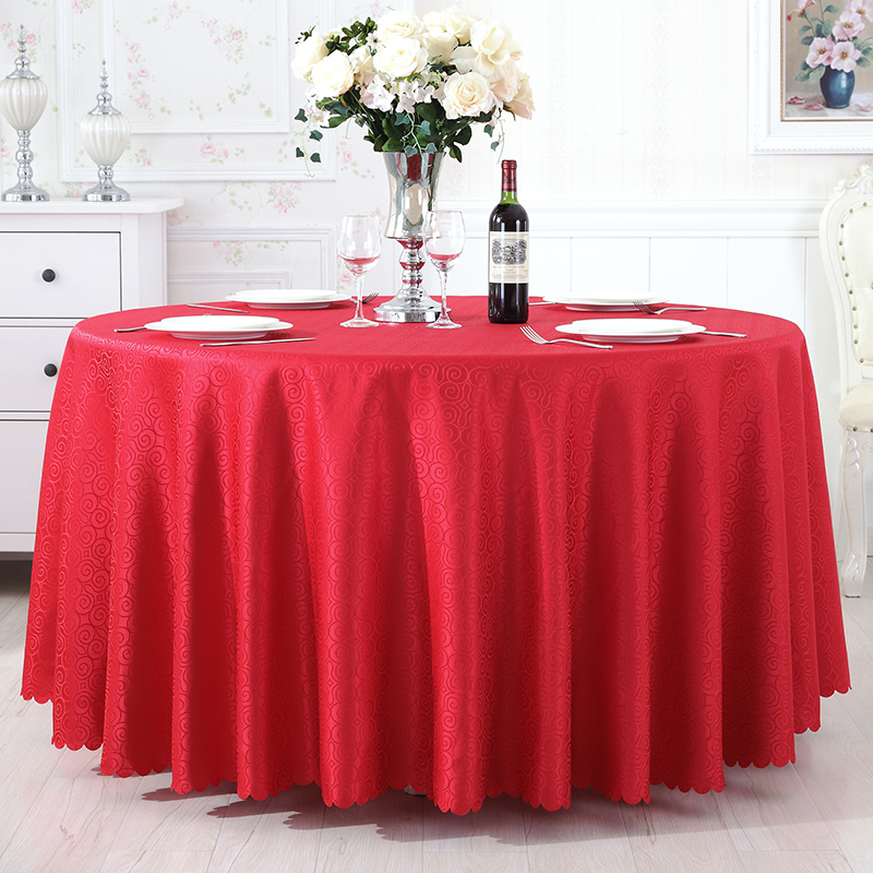 Custom hotel restaurant wedding banquet tablecloth roundtable round tablecloth rectangular coffee table cloth table cloth restaurant