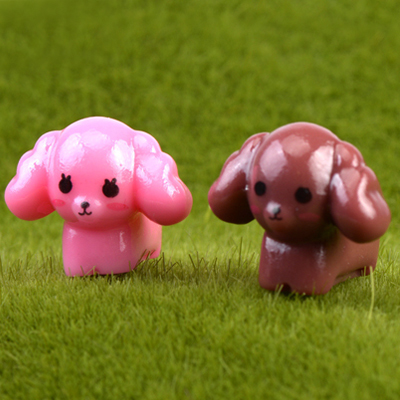 Cute poodle moss micro landscape ornaments and more meat plants diy toys assembled small ornaments