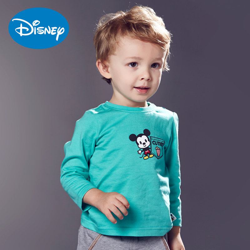 Cuties2016 disney cartoon boys and girls children's clothing autumn long sleeve cotton casual t-shirts infant clothing