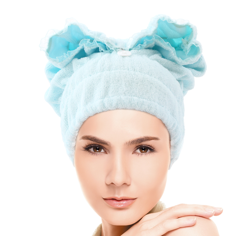 Cylindrical super absorbent dry hair cap shower cap thicker hair thicker absorbent towel absorbent and quick rub hair