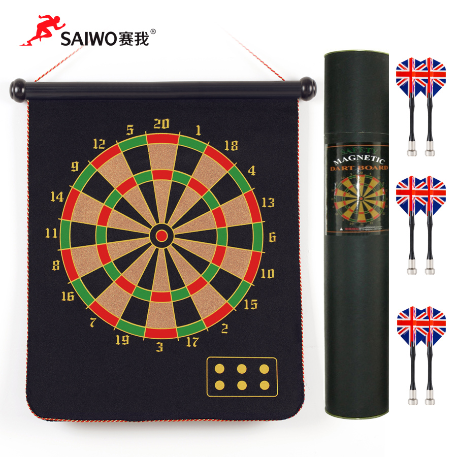 Cyworld dartboard suit sided flocking dartboard magnetic dartboard safety dartboard adult children are available