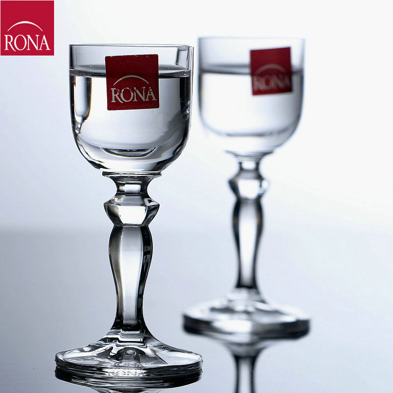 Czech import rona unleaded crystal wine glass goblet of red wine glass wine cup small glass of spirits mau taiwan