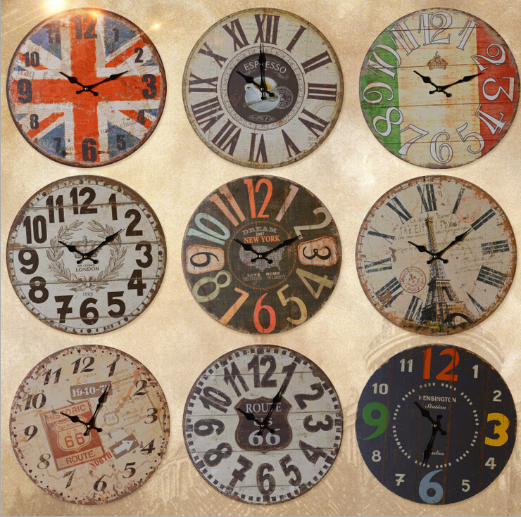 D american retro living room wall clock wall clock decorative wall clocks wooden ornaments creative home decorations wall hangings wall hangings