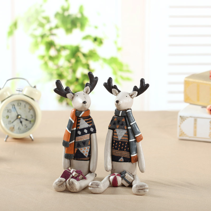 D craft ornaments european creative home decorations ceramic resin small animals wedding decorations wedding gifts