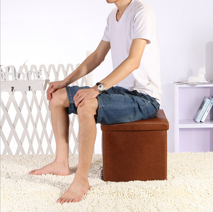 D multifunctional storage stool stool leather stool foot stool stool changing his shoes sofa stool storage stool storage box