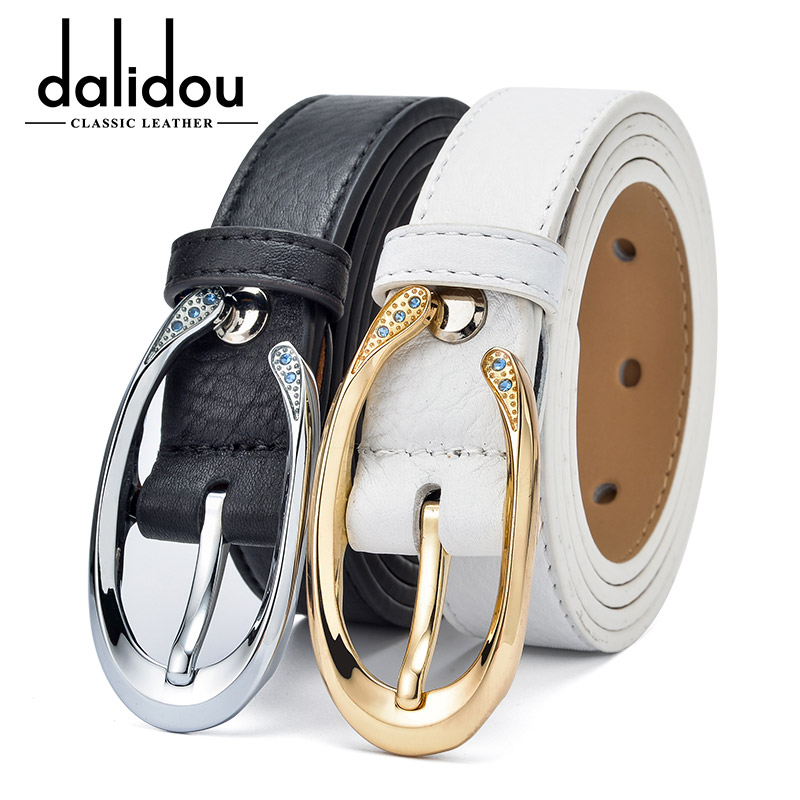 Daly are white leather belt ms. belt leather belt leather belt fine korean fashion female head layer of leather belt female models
