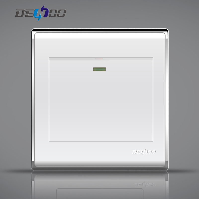 Dan long switch socket panel 86 a double control switch panel wall switch socket wall switch bright silver porcelain white